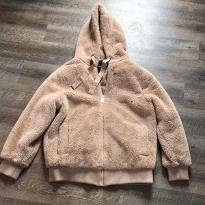 Fuzzy teddy jacket